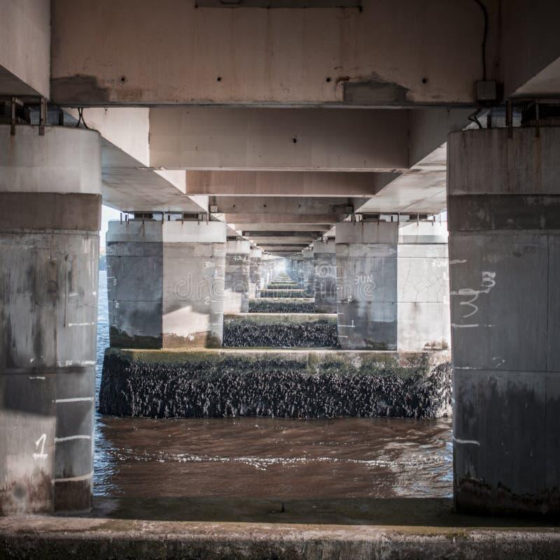 Por debajo Tay Bridge foto de archivo libre de regalías