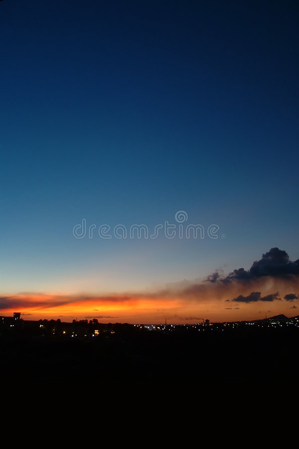 Por Do Sol Foto de Stock Royalty Free