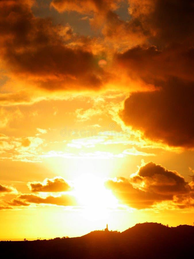 Por do sol 01 imagem de stock