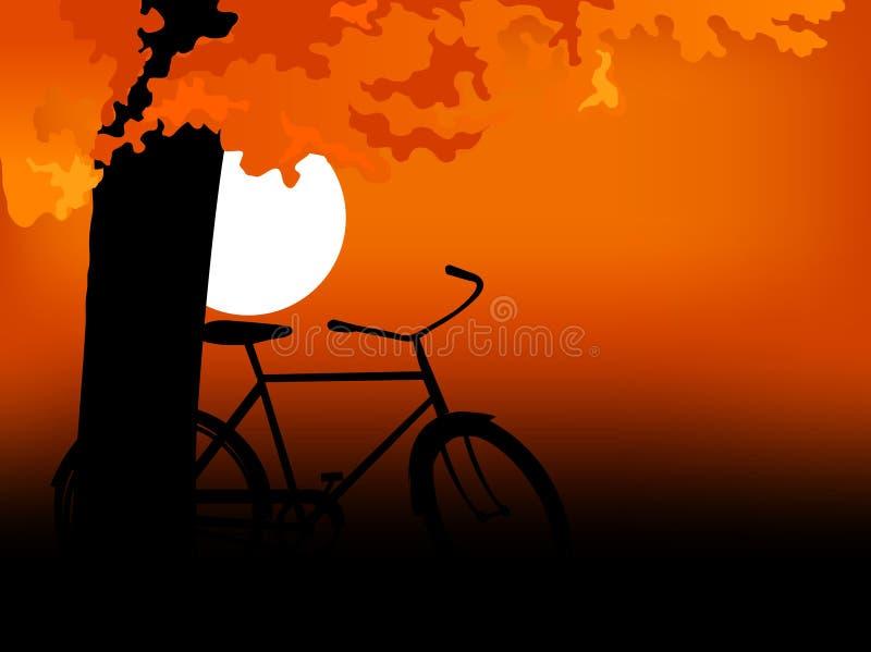 Por do sol 06 ilustração royalty free