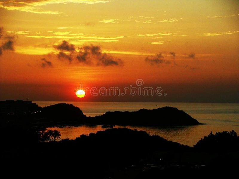 Por do sol imagem de stock royalty free
