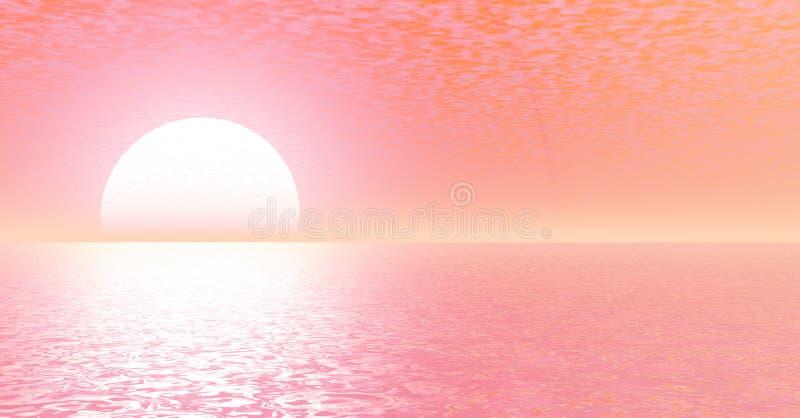 Por do sol ilustração stock