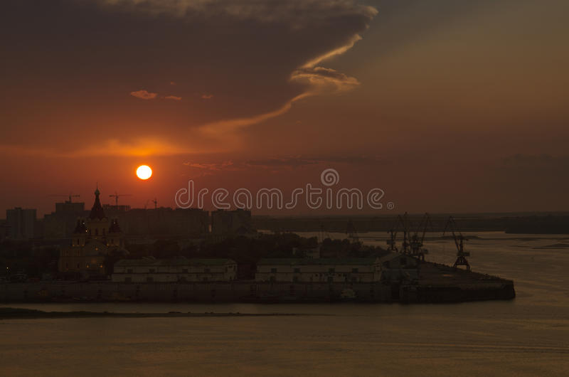 Por do sol fotos de stock royalty free