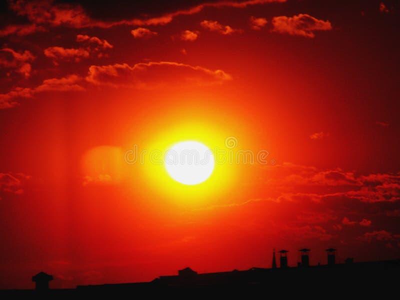 Por do sol imagens de stock