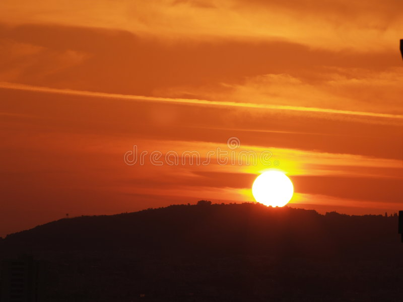 Por do sol fotografia de stock royalty free