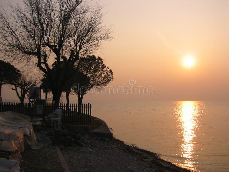 Download Por do sol foto de stock. Imagem de greece, amarelo, seaside - 56374