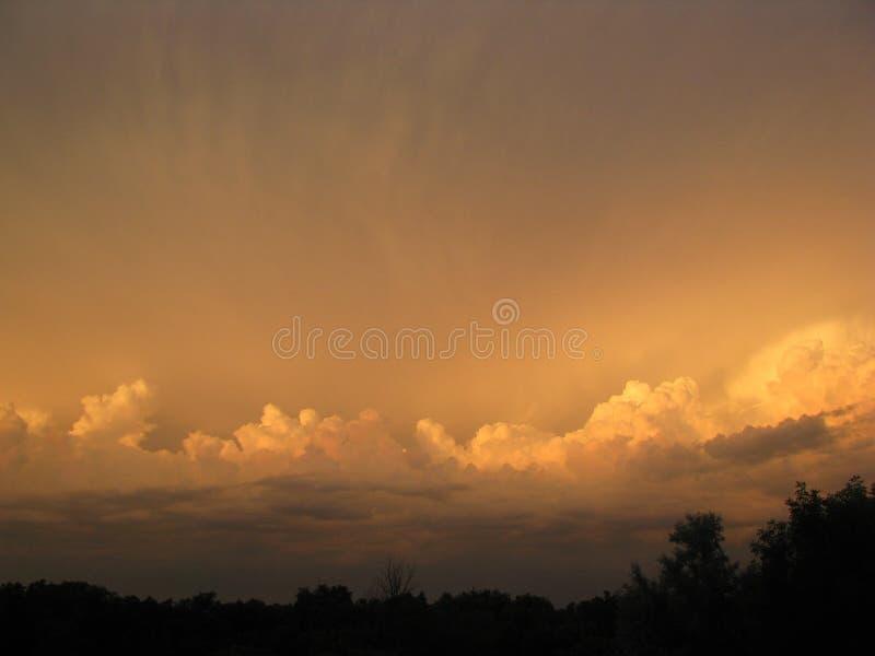 Por do sol atrás de nós imagens de stock royalty free