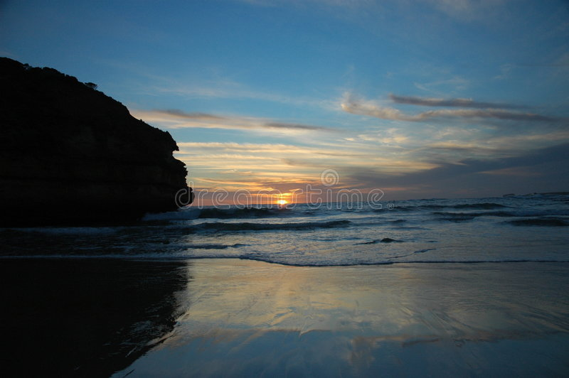 Por do sol australiano foto de stock