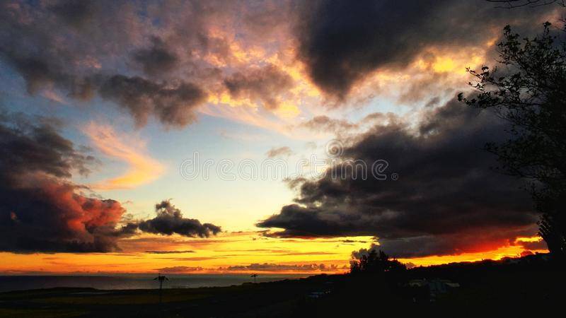 Por do sol bonito imagem de stock royalty free