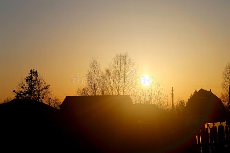 Por do sol bonito conservado em estoque de Foto no rio fotos de stock