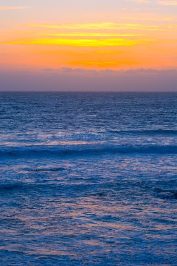 Por do sol bonito de Califórnia fotografia de stock