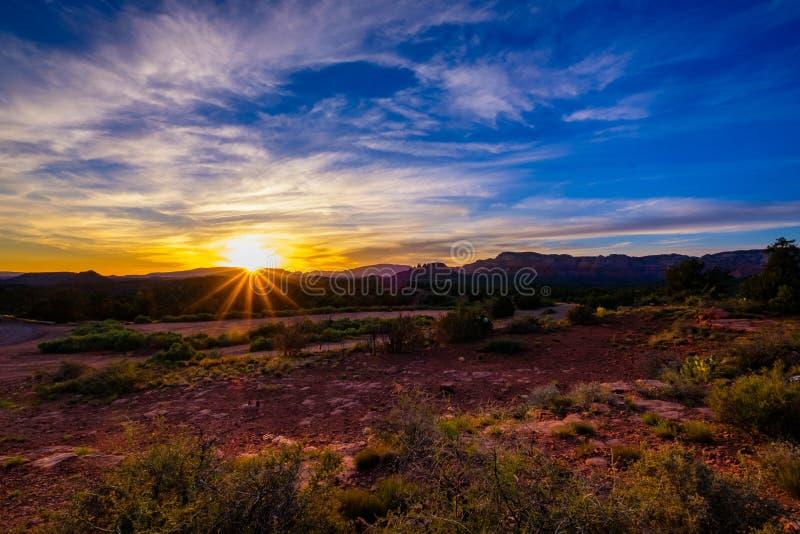 Por do sol bonito de Sedona imagens de stock