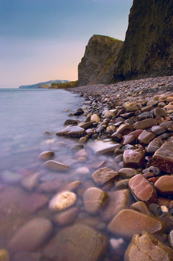 Por do sol bonito do mar imagens de stock
