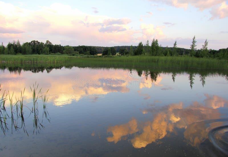 Por do sol bonito do verão imagens de stock royalty free
