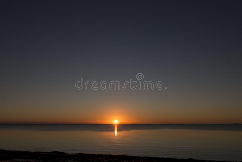 Por do sol bonito, Moçambique imagens de stock