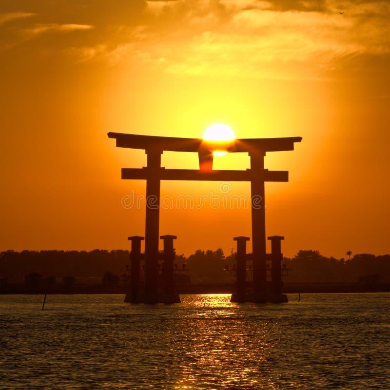 Por Do Sol Collection-1 De Japão Fotos de Stock