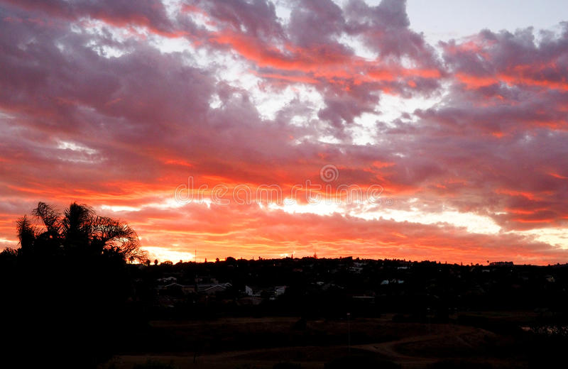Por do sol colorido foto de stock royalty free