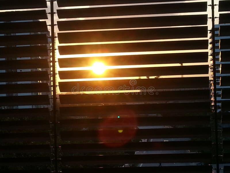 Por do sol com Windows foto de stock royalty free