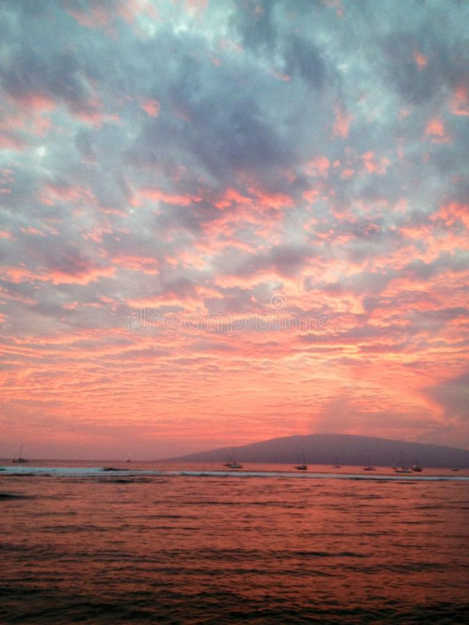 Por do sol cor-de-rosa fotografia de stock royalty free