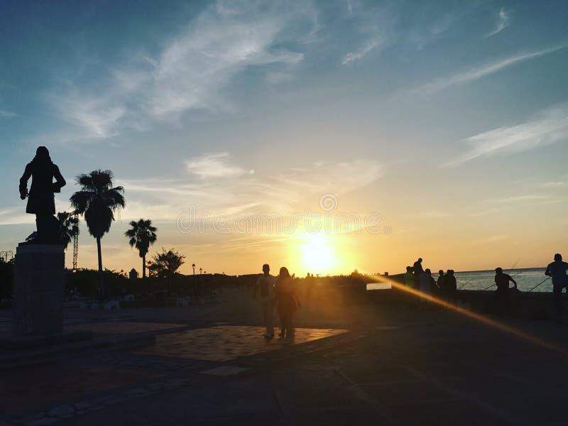 Por do sol Cuba de Melecon fotos de stock royalty free