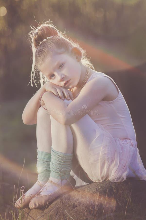 Por do sol da bailarina foto de stock