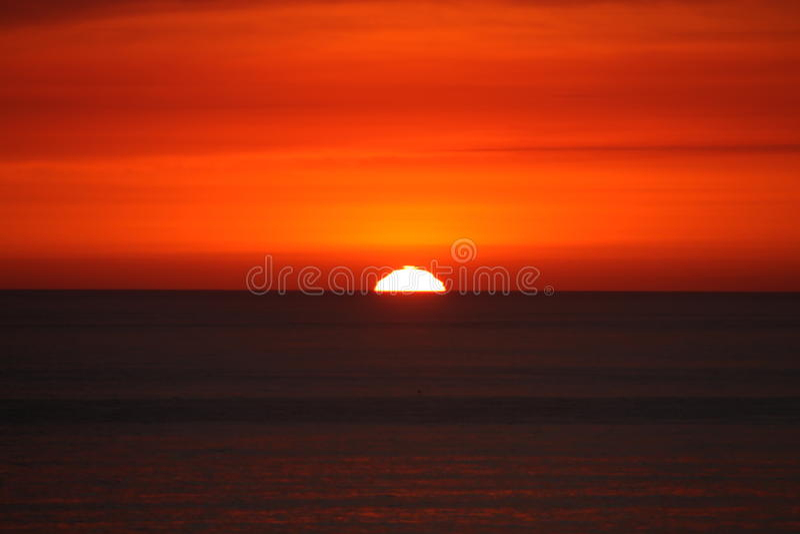 Por do sol da costa oeste foto de stock royalty free