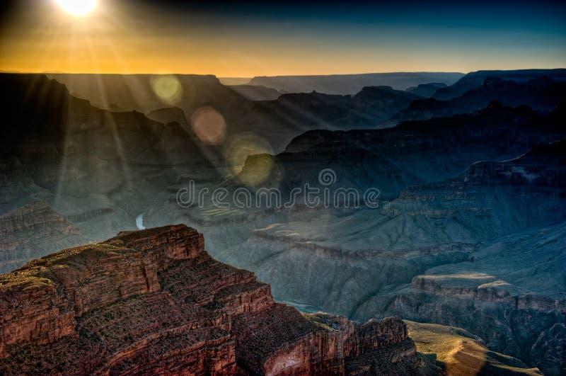 Por do sol da garganta grande foto de stock royalty free