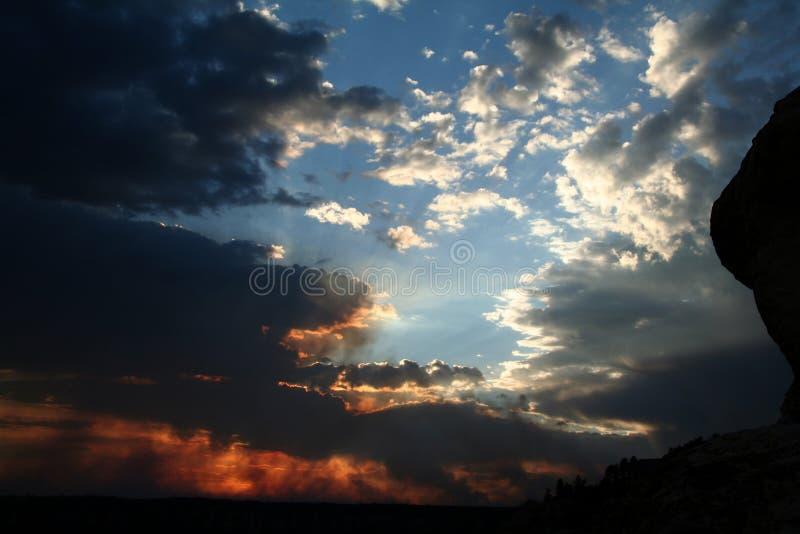 Por do sol da garganta grande fotografia de stock royalty free