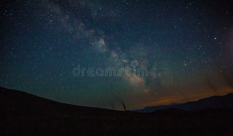 Por do sol da montanha da estrela fotos de stock