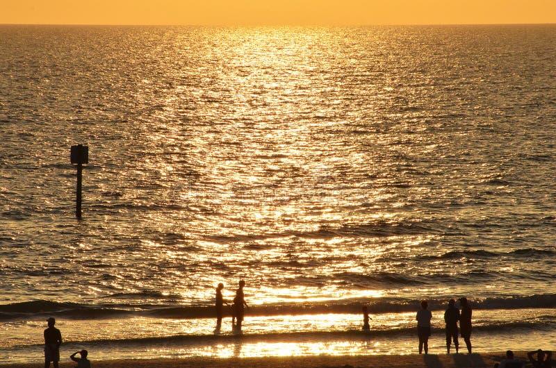 Por do sol da praia em florida imagem de stock royalty free