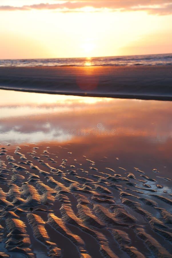 Por do sol de Ameland fotografia de stock royalty free