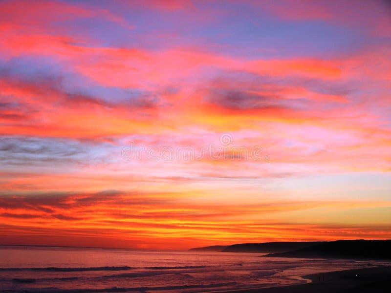 Por do sol de Austrália fotografia de stock