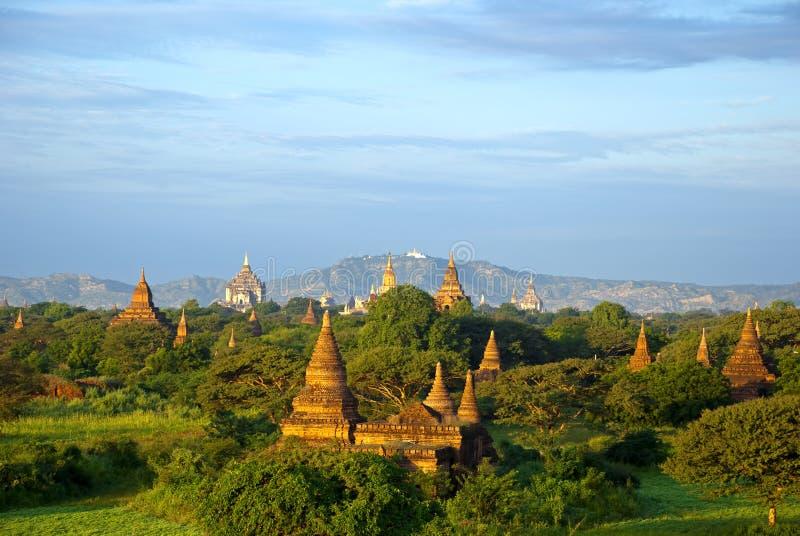 Por do sol de Bagan foto de stock royalty free