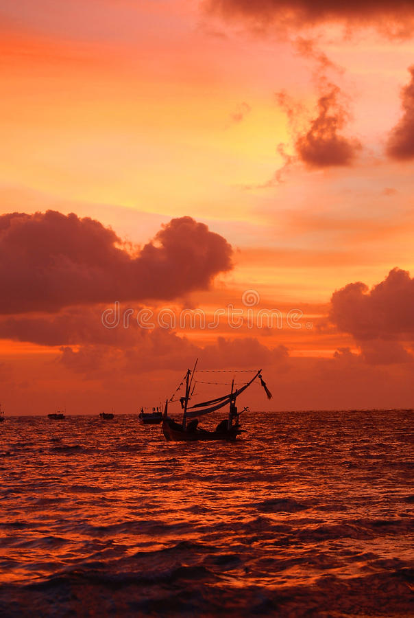 Por do sol de Bali foto de stock royalty free