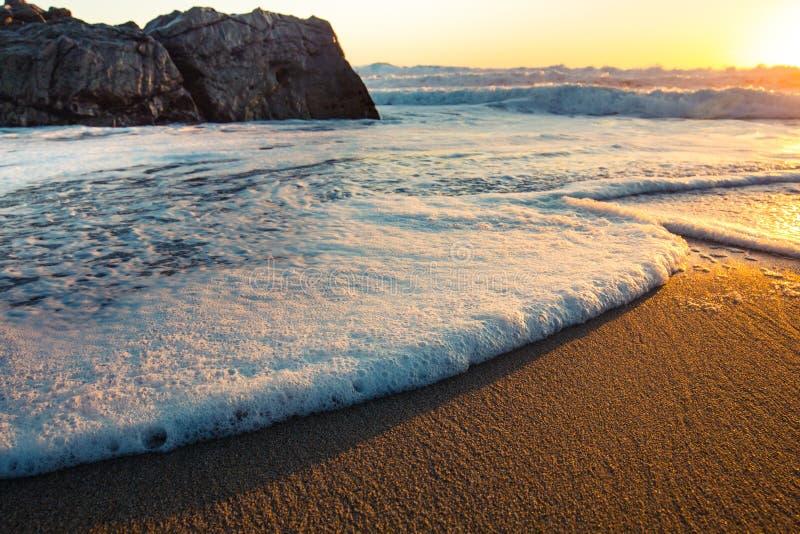 Por do sol de Big Sur imagem de stock
