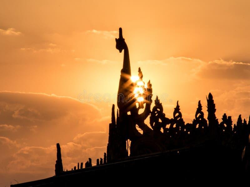 Por do sol 3 de Birmania imagens de stock royalty free