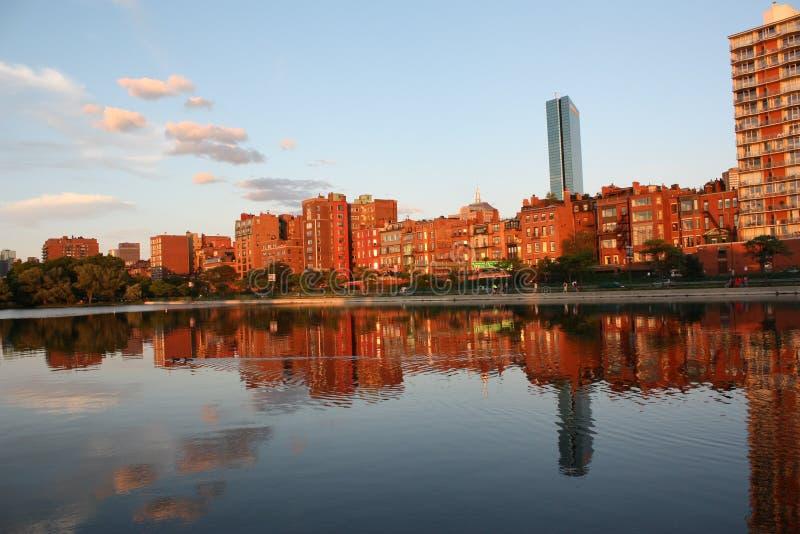 Por do sol de Boston fotografia de stock royalty free