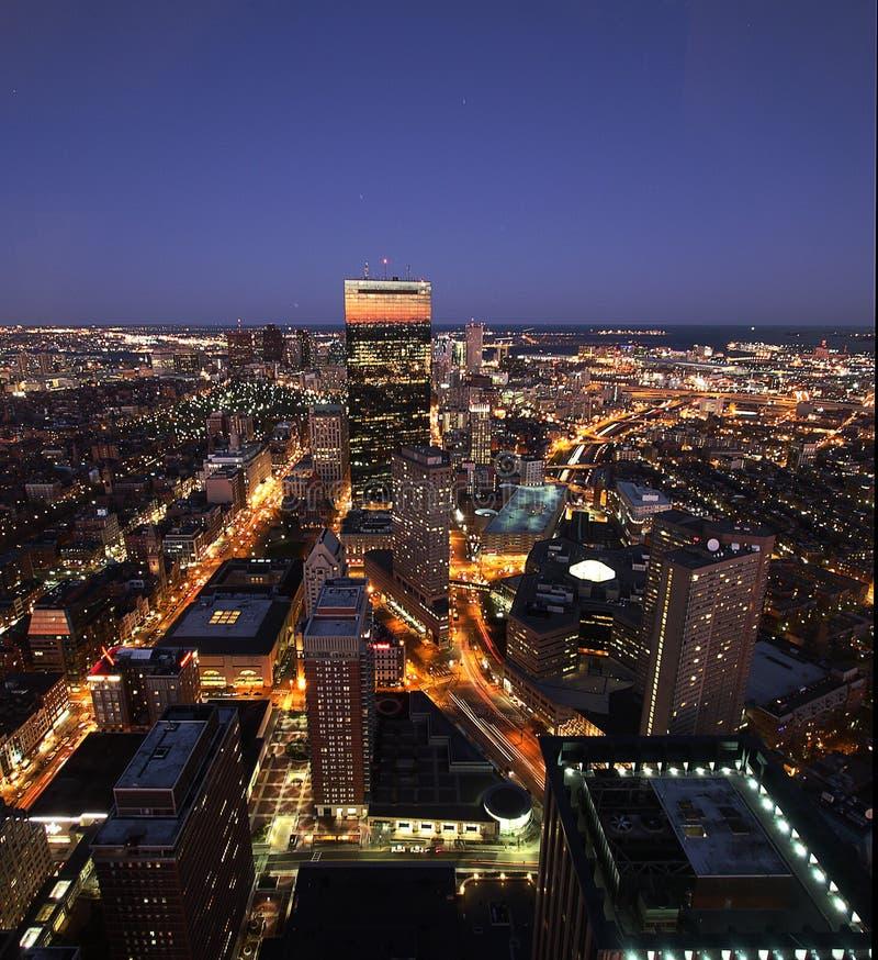 Por do sol de Boston imagem de stock royalty free