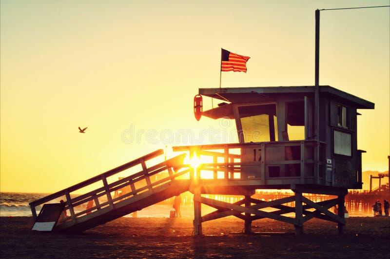 Por do sol de Califórnia foto de stock