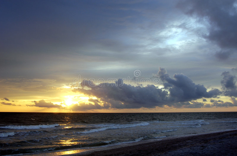 Download Por do sol de Captiva foto de stock. Imagem de scape, breezy - 1247620