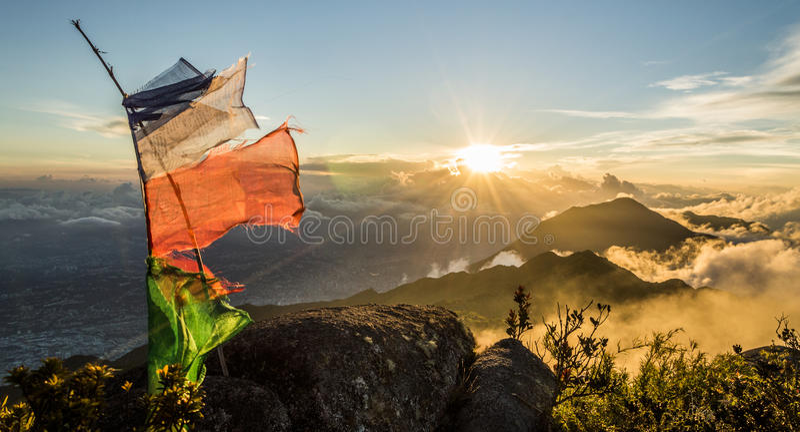 Por do sol de Caracas foto de stock