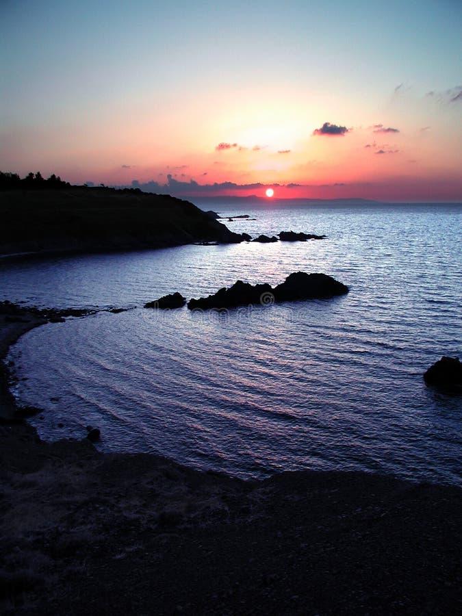 Por Do Sol De Chipre Foto de Stock Royalty Free