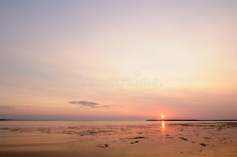 Por do sol de Colorfull foto de stock