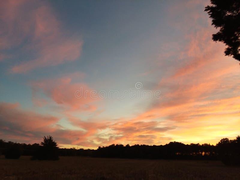 Por do sol de Delaware imagem de stock