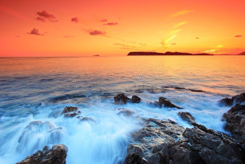 Por do sol de Dubrovnik, Croatia foto de stock royalty free
