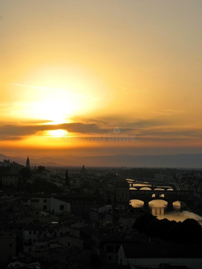 Por do sol de Florença foto de stock royalty free