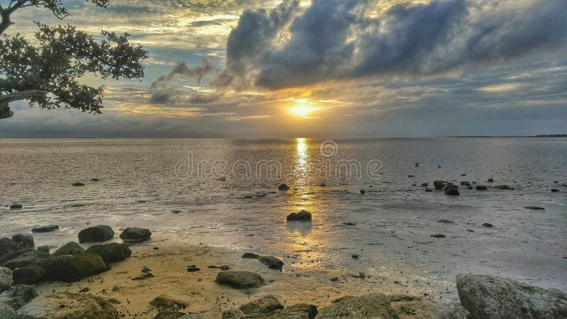 Por do sol de Florida fotografia de stock royalty free