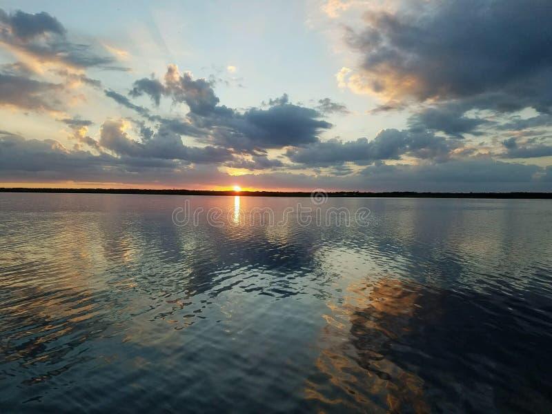 Por do sol de Florida foto de stock