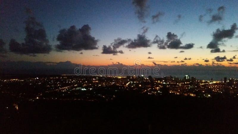 Por do sol de Geórgia foto de stock