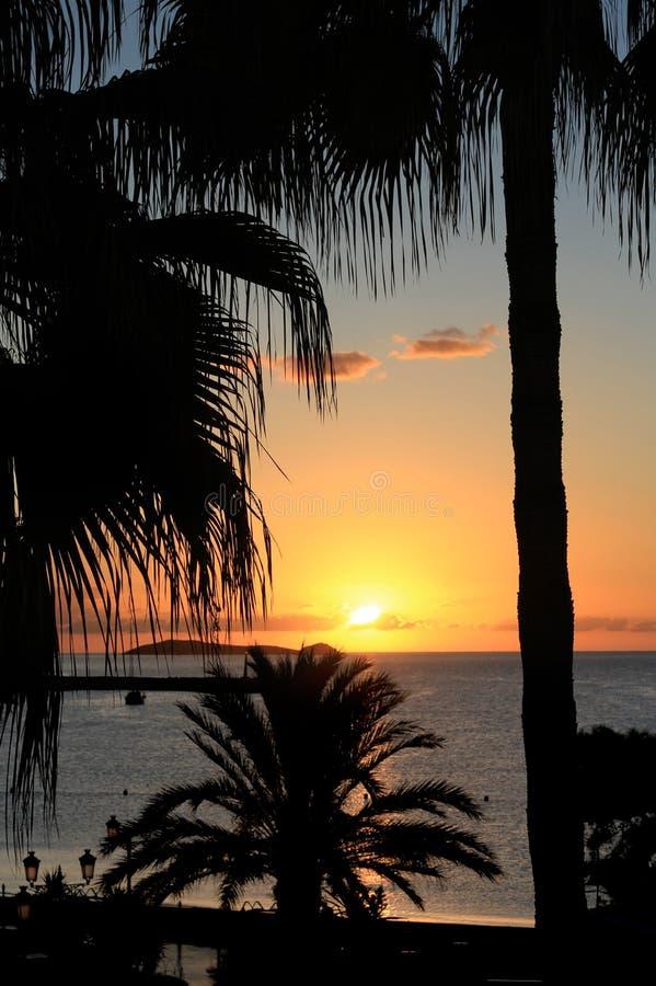 Por do sol de Ibiza foto de stock royalty free